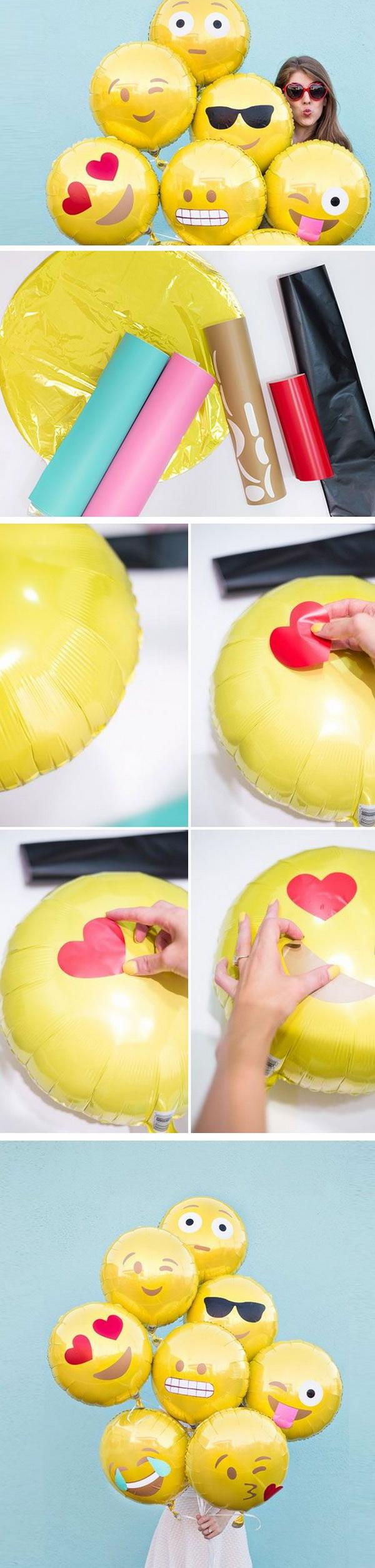 DIY Emoji Balloons  sc 1 st  For Creative Juice & 50+ Pretty Balloon Decoration Ideas - For Creative Juice