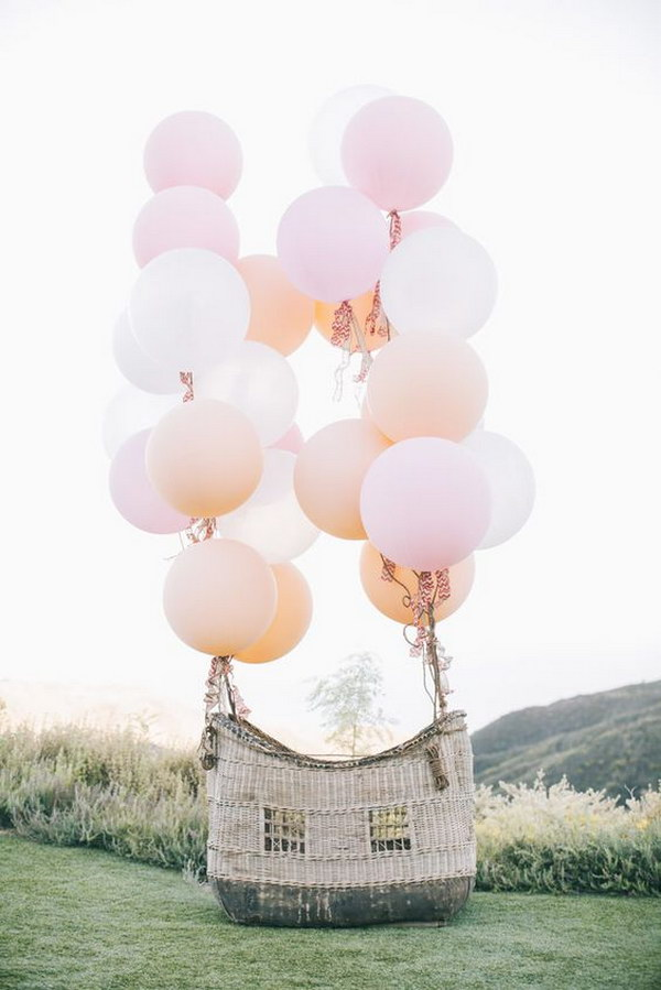 Hot Air Balloon Basket Photo Booth.