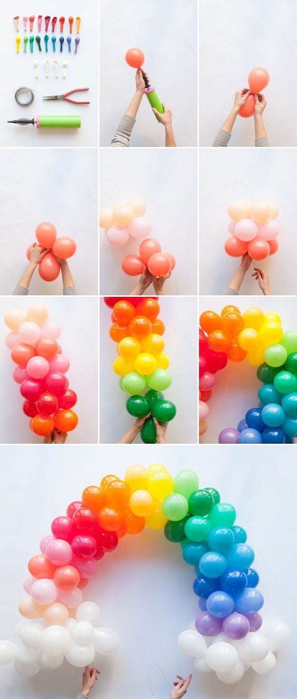 50 pretty balloon decoration ideas for creative juice for Balloon decoration instructions