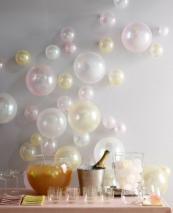 Wall Decor with balloons in Different Sizes & 50+ Pretty Balloon Decoration Ideas - For Creative Juice