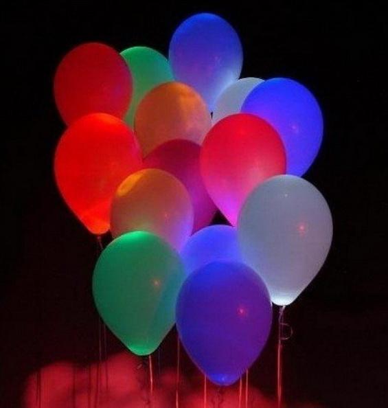 Glowing  Balloons.