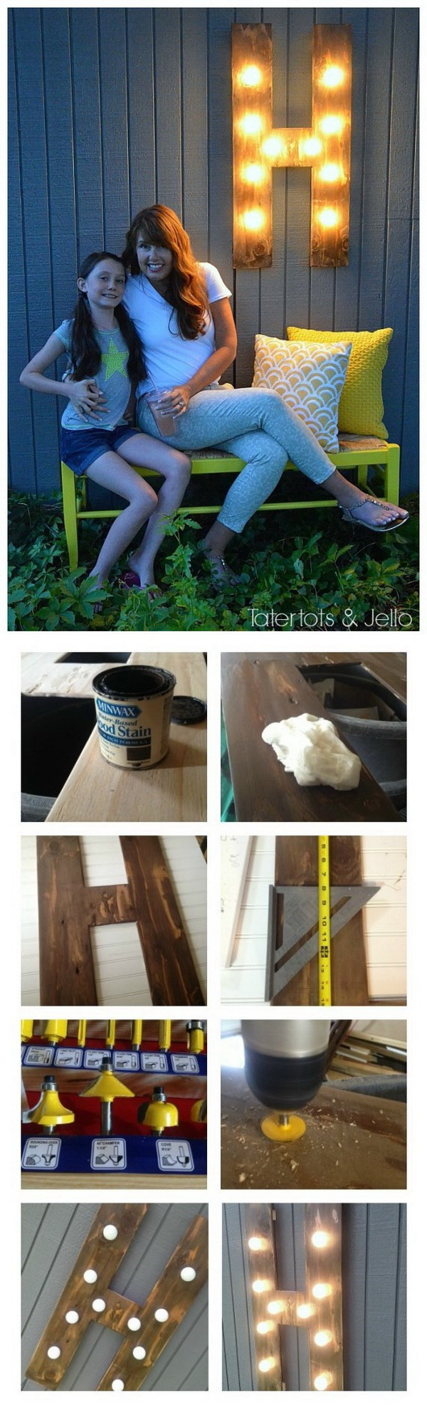 DIY Outdoor Wood Marquee Letter