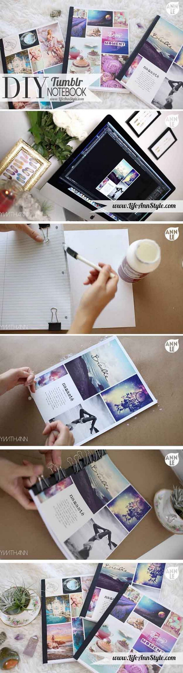 DIY Tumblr Notebook. Make your own cool notebooks and design it however way you want!