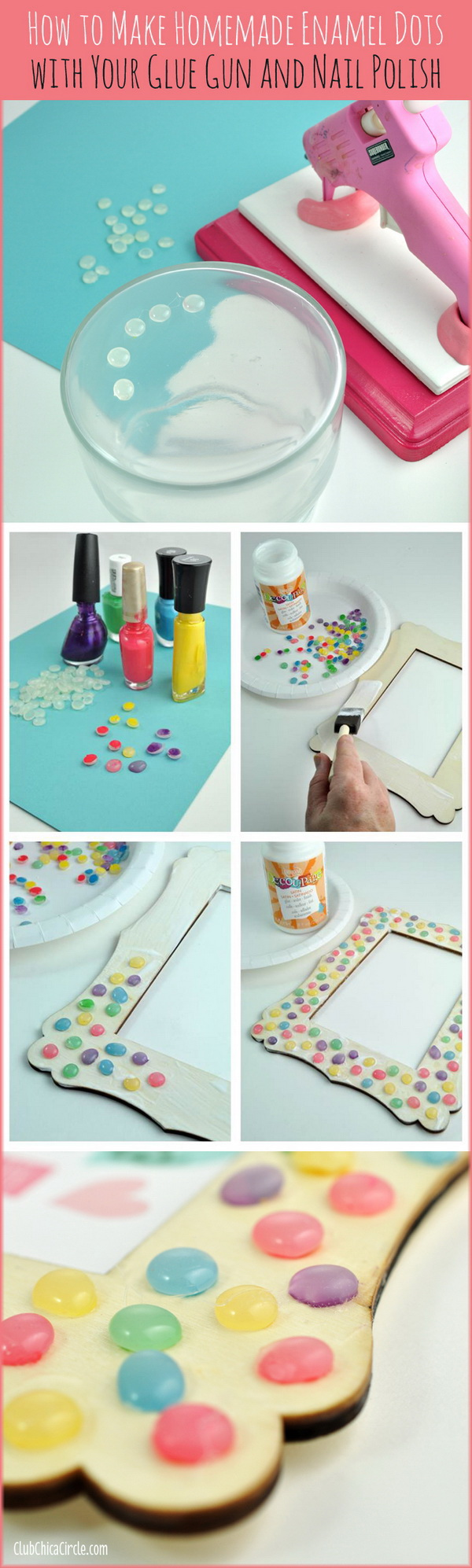 Homemade Faux Enamel Dots
