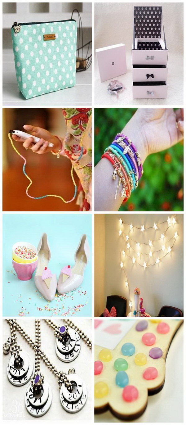 Cool DIY Projects for Teenage Girls. Read on these cool DIY projects and ideas and use them to spice up your wardrobe, to enchance your accessory collection or to make something more beautiful for your daily life.