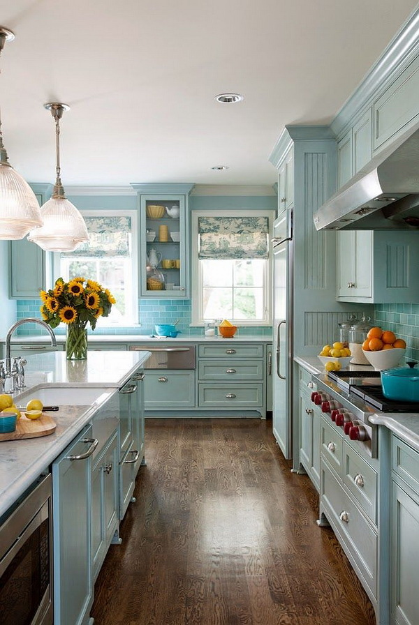 Most popular kitchen cabinet paint color ideas for for Most popular kitchen cabinet color