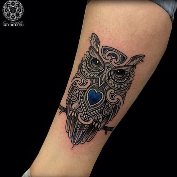 Owl tattoo ideas. More via http://forcreativejuice.com/attractive-owl-tattoo-ideas/