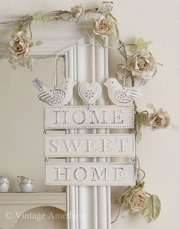 Shabby Chic Sweet Home Sign.