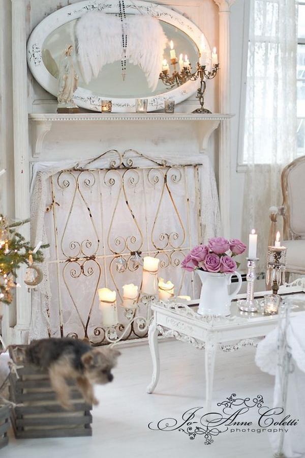 Vintage Shabby Chic Living Room Decoration.