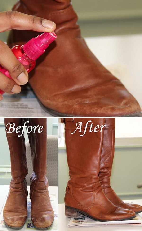 How to Remove Salt Stains from Leather Boots.