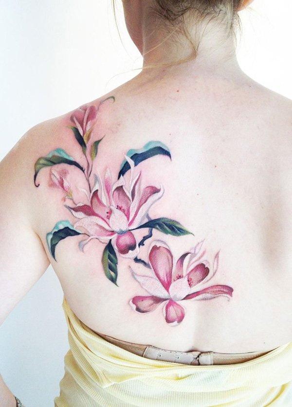 Flower Back Tattoo Ideas: 50+ Pretty Flower Tattoo Ideas