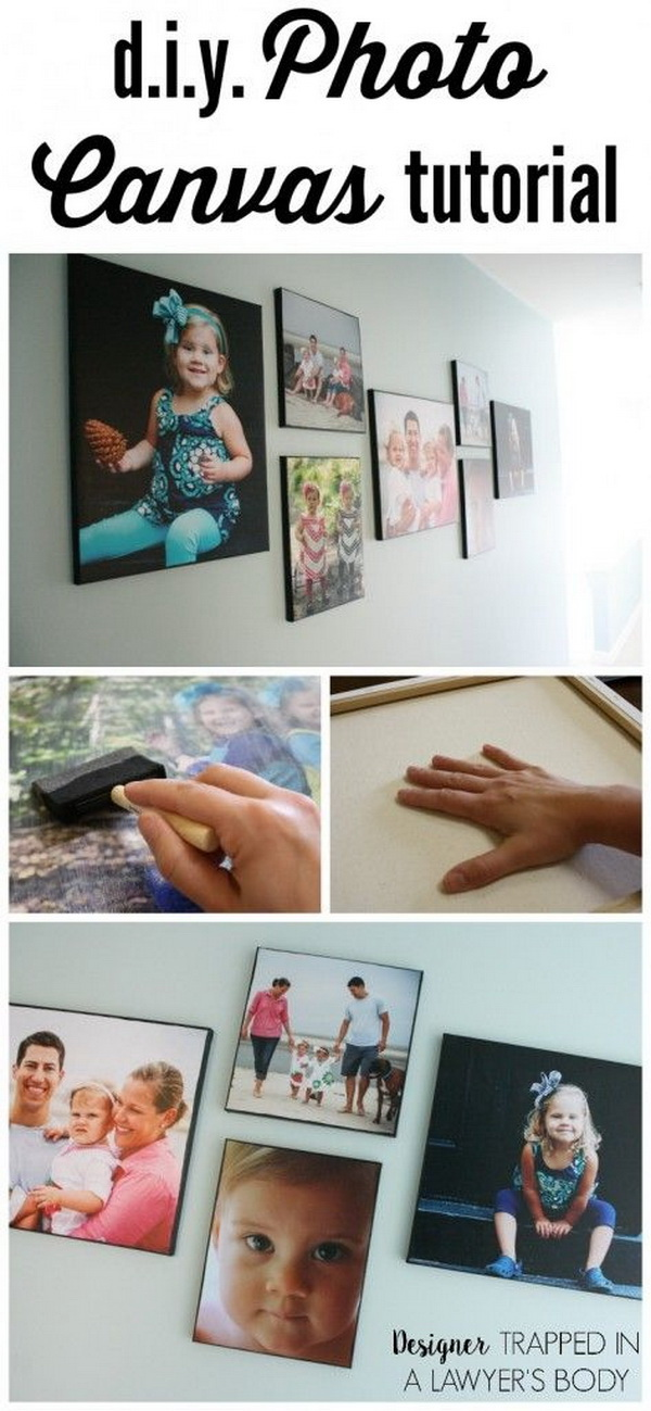 DIY Photo Canvas. Best DIY photo canvas for any decor in your home!