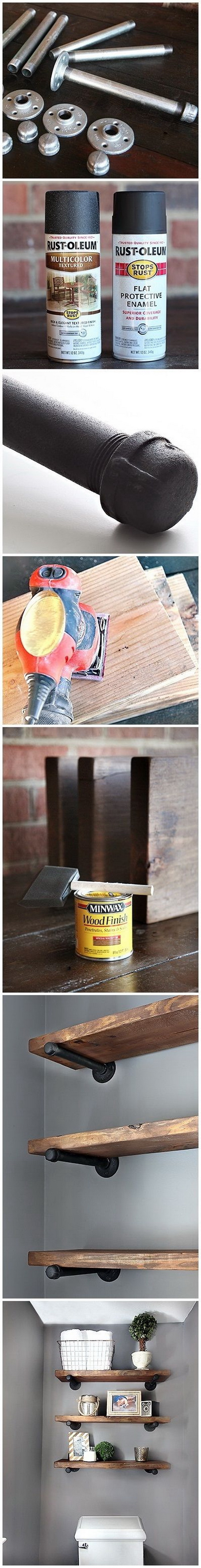 DIY Restoration Hardware Inspired Shelf.