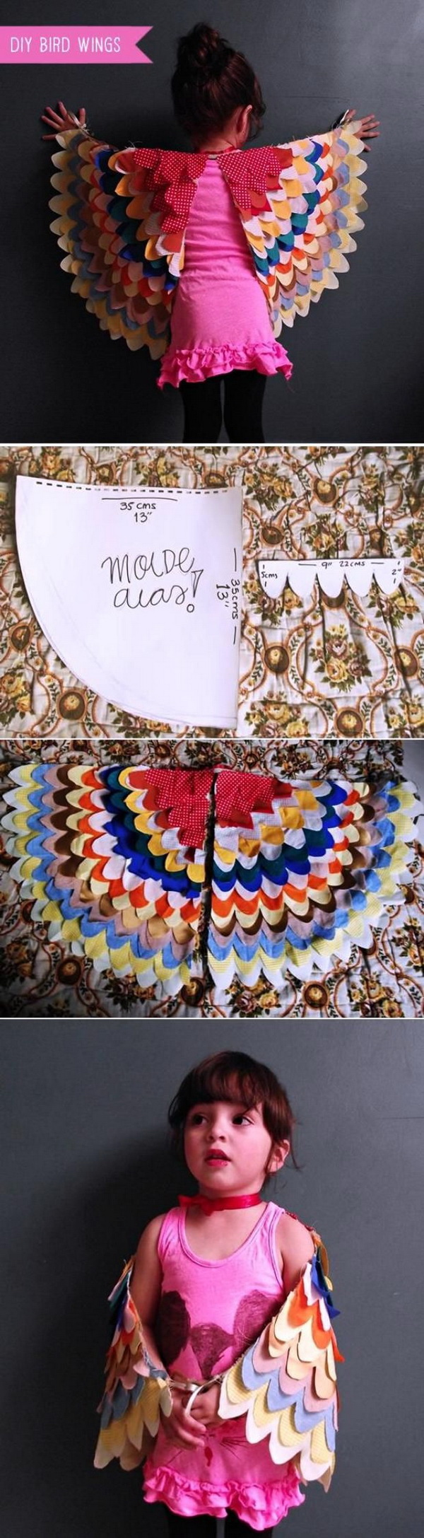 DIY Bird Wings Costume.