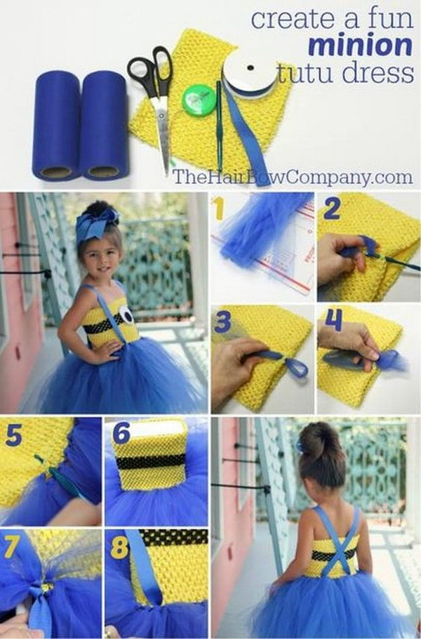 DIY Adorable Minion Tutu Dress.