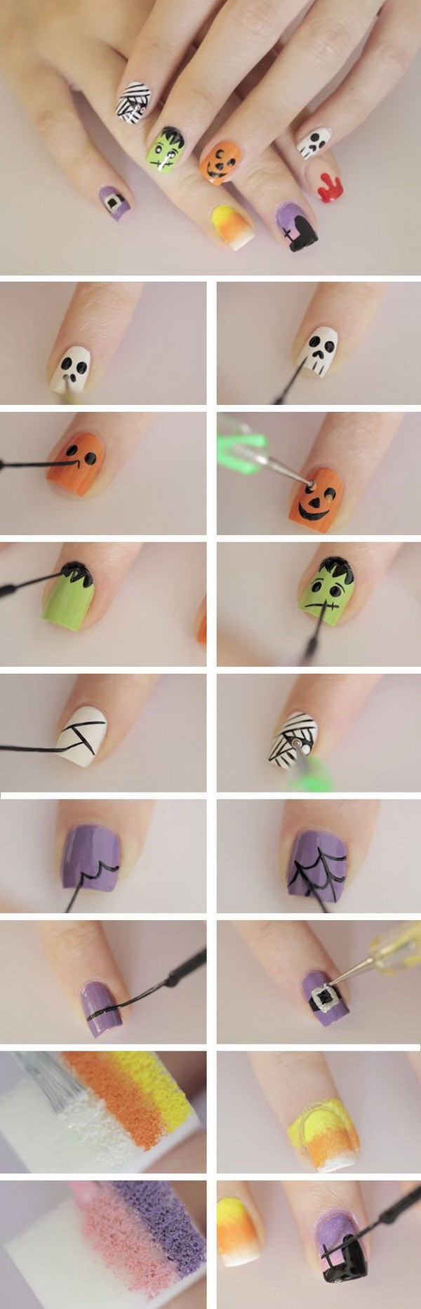 Diy Halloween Nail Art Designs With Step By Step Tutorials For Creative Juice,Current Mens African Shirts Designs 2019