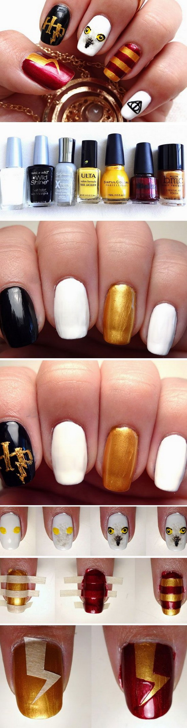 Harry Potter Nail Design for Halloween.
