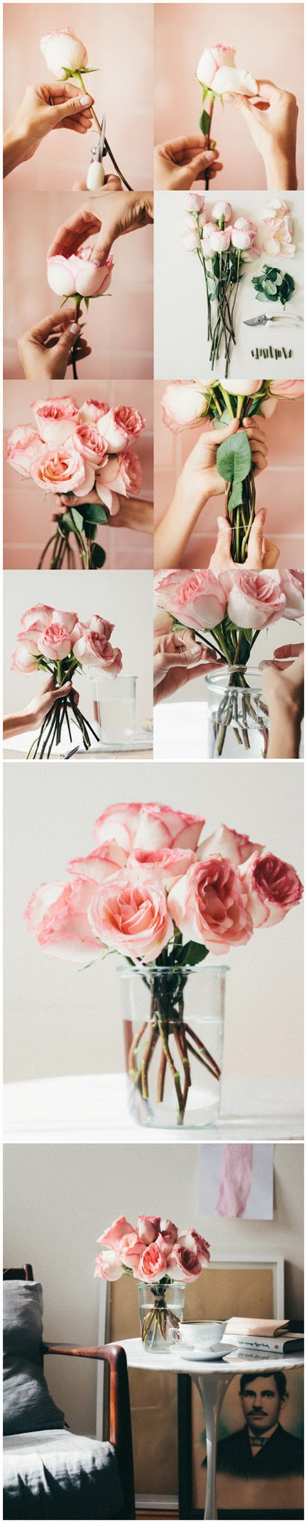 Arrange Supermarket Flowers. Arrange fresh flowers for your own taste and enjoyment and add elegance for your home decor.