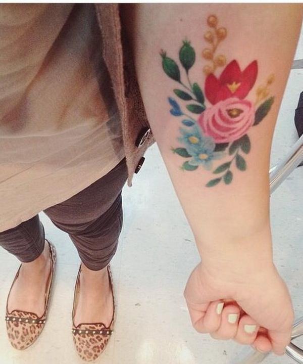 Vintage Floral Tattoo.