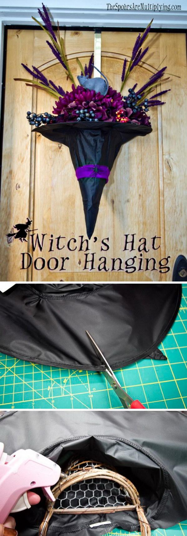 DIY Witch Hat Door Hanger.
