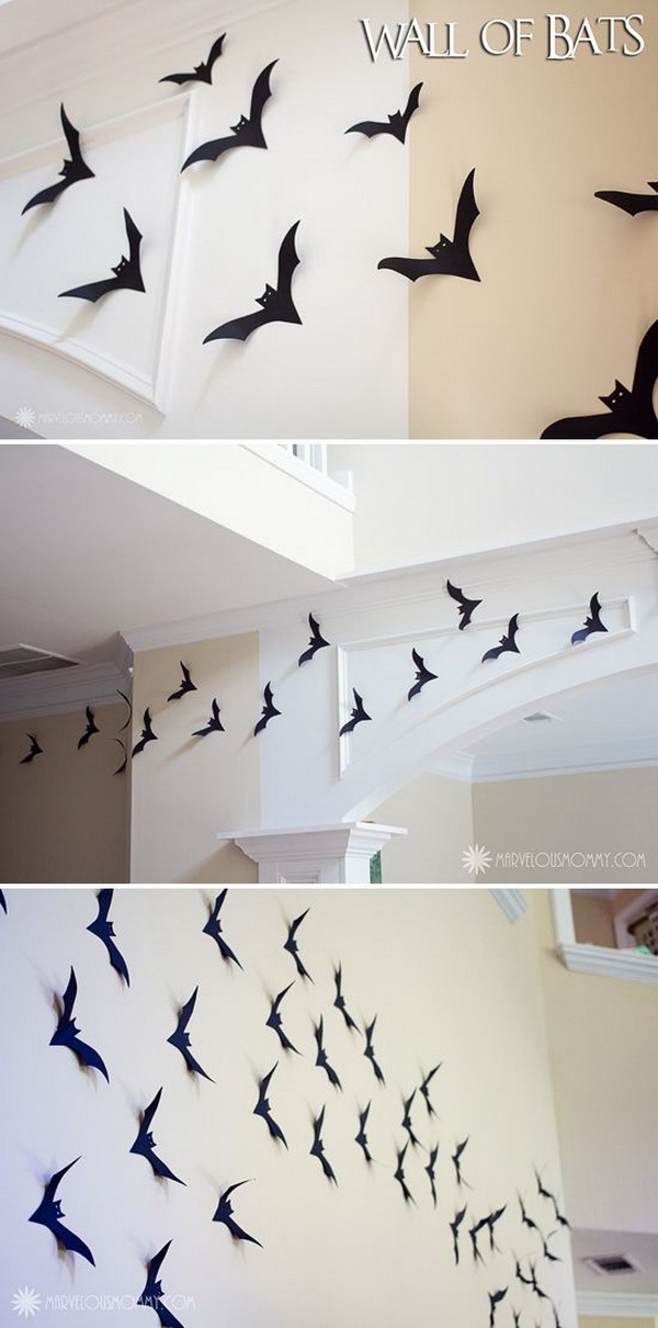 Homemade Decorative Bats.