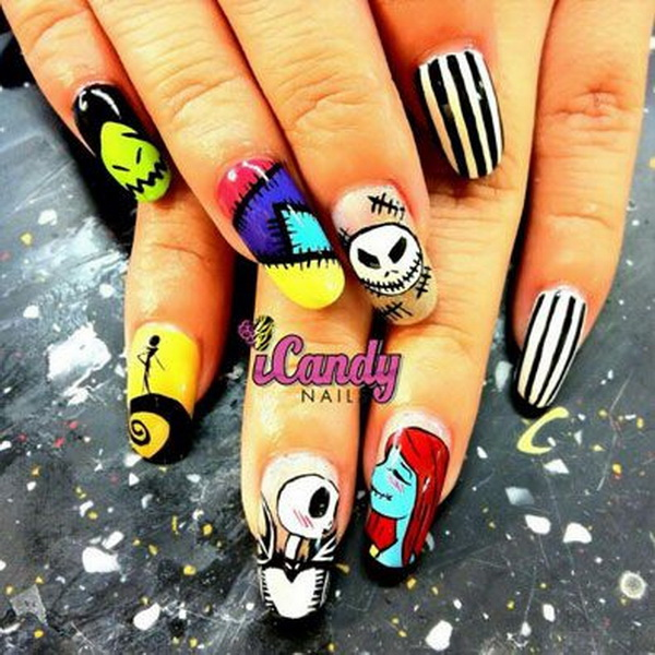 Beautiful Nail Designs for Halloween - 50+ Spooky Halloween Nail Art Designs - For Creative Juice