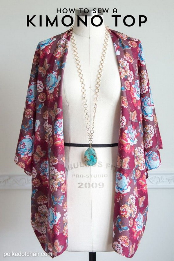 Sewing Kimono Jacket. A sewing pattern and DIY fashion idea for you to start with your first sewing project!