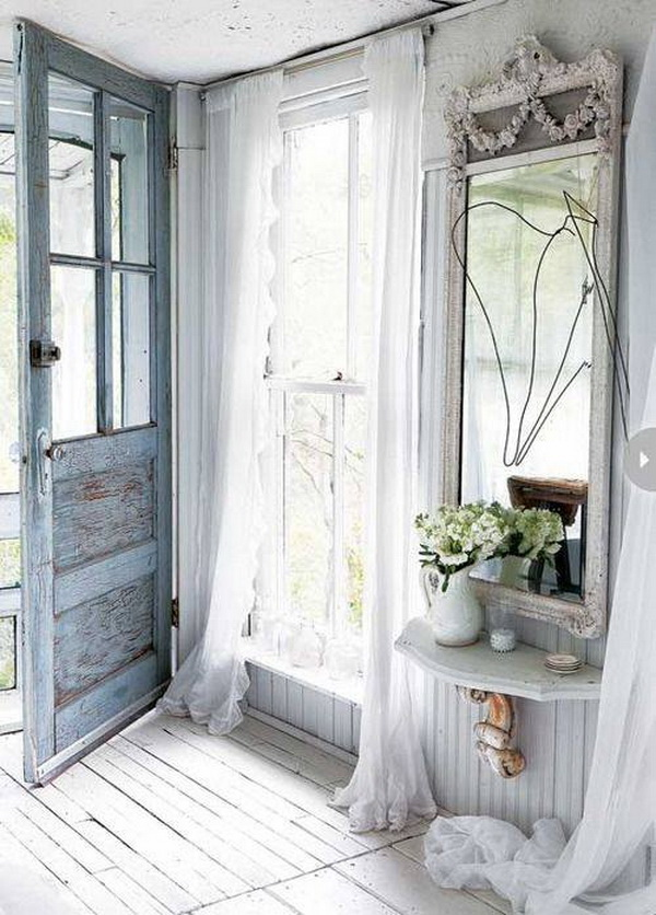 browse these shabby chiccottage chic style entryway ideas and decor inspiration including storage and furniture and create a both welcoming memorable