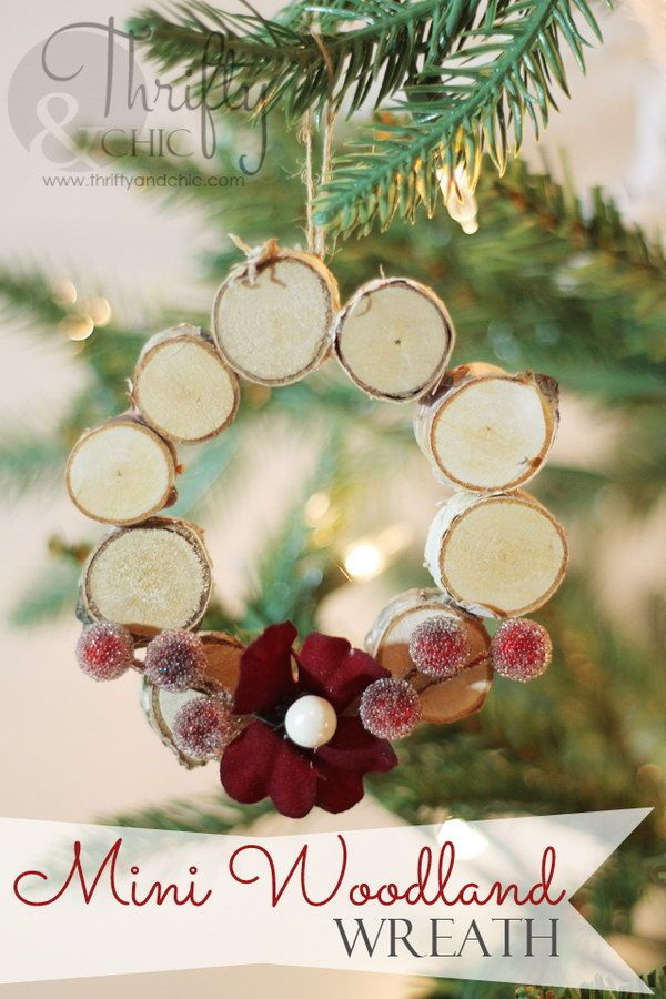 mini woodland wreath ornament - Diy Christmas Pictures