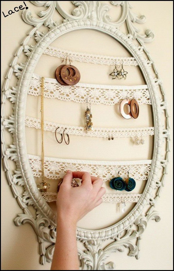 30 Brilliant DIY Jewelry Storage & Display Ideas - For Creative Juice