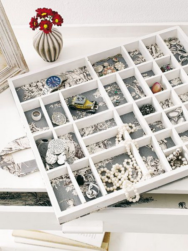 Jewelry Storage Drawer With Insert Boxes