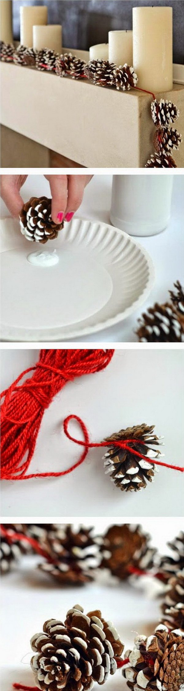 Pine Cone Garlands For Christmas Decoration