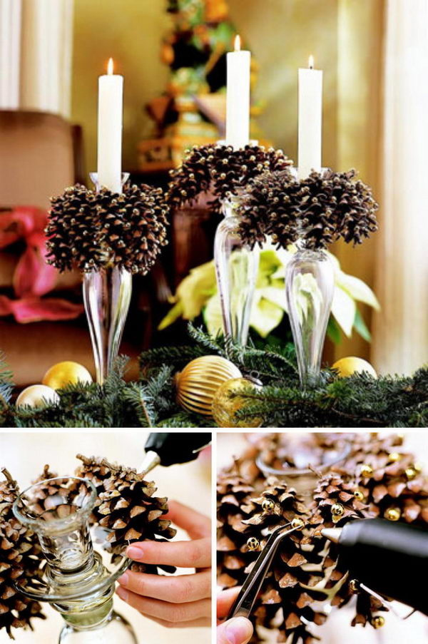 Festive diy pine cone crafts for your holiday decoration Homemade christmas decorations using pine cones