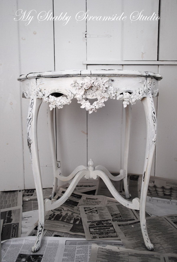 DIY Shabby Chic Side Table.