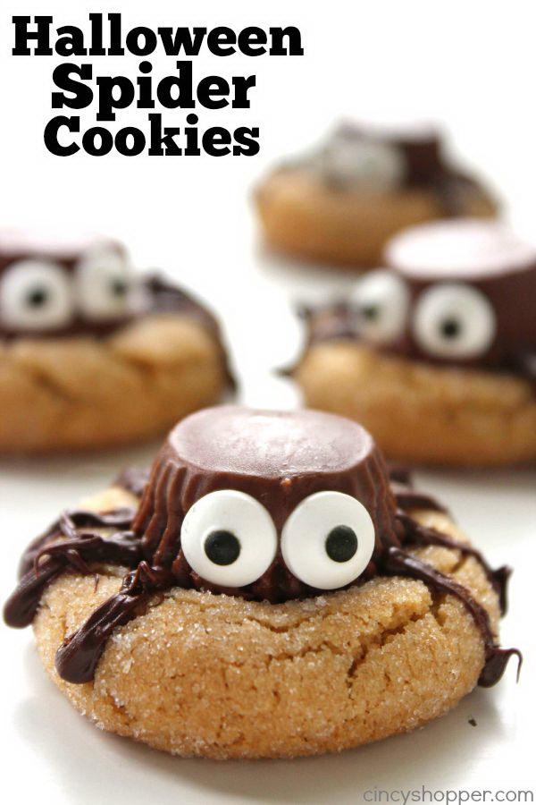 Halloween Spider Cookies.