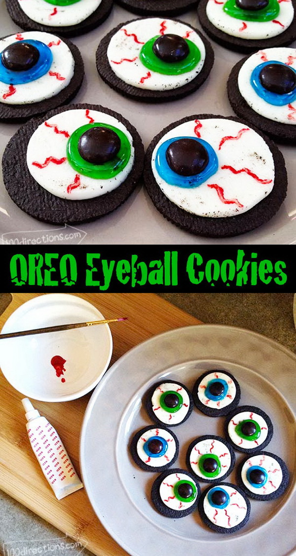 OREO Cookie Eyeballs Halloween Treat DIY.