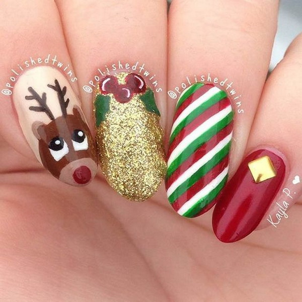 Christmas Nail Art Design Ideas.