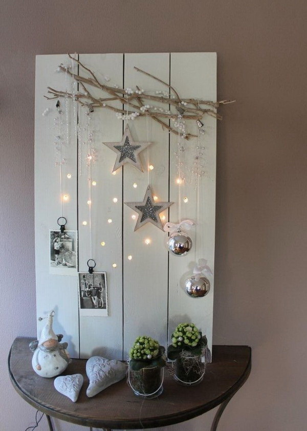 Rustic Winter Decorating Light Board. This winter themed decorating light board are both great for your Christmas or winter home decor.