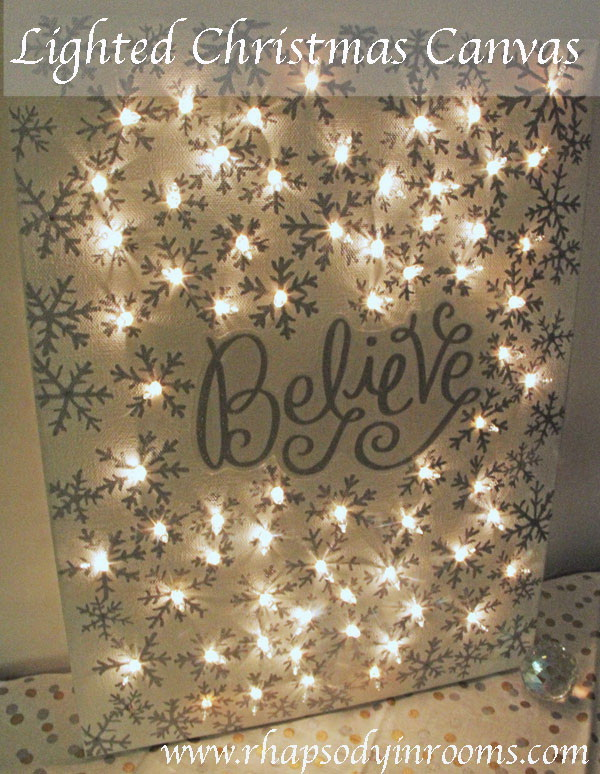Lighted Christmas Canvas.