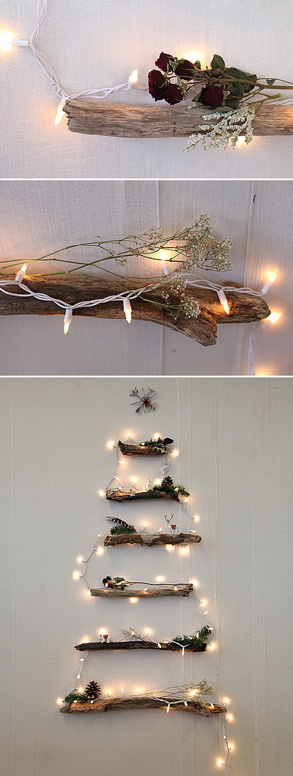 DIY Lighted Twig Christmas Tree. This DIY lighted twig Christmas tree adds a rustic touch to your holiday decor!