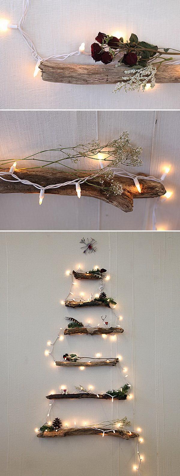 DIY Lighted Twig Christmas Tree. This DIY lighted twig Christmas tree adds a rustic touch to your holiday decor!