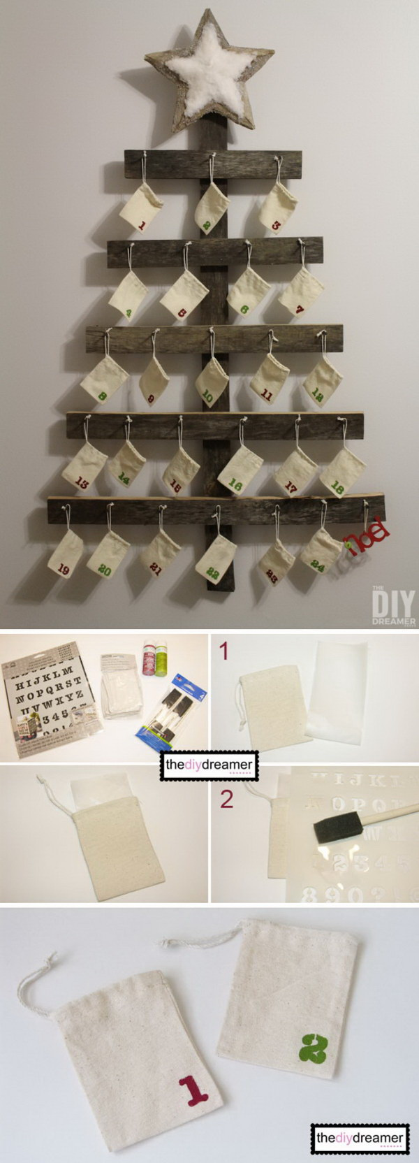 Wall Mounted Christmas Advent Calendar. This DIY advent calendar is the cutest ways to pass the days until Christmas.