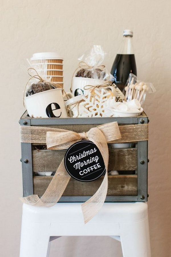DIY Coffee Lover's Gift Basket.