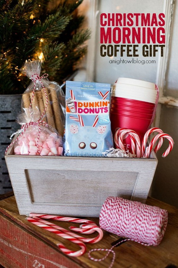 Christmas Morning Coffee Gift Basket.
