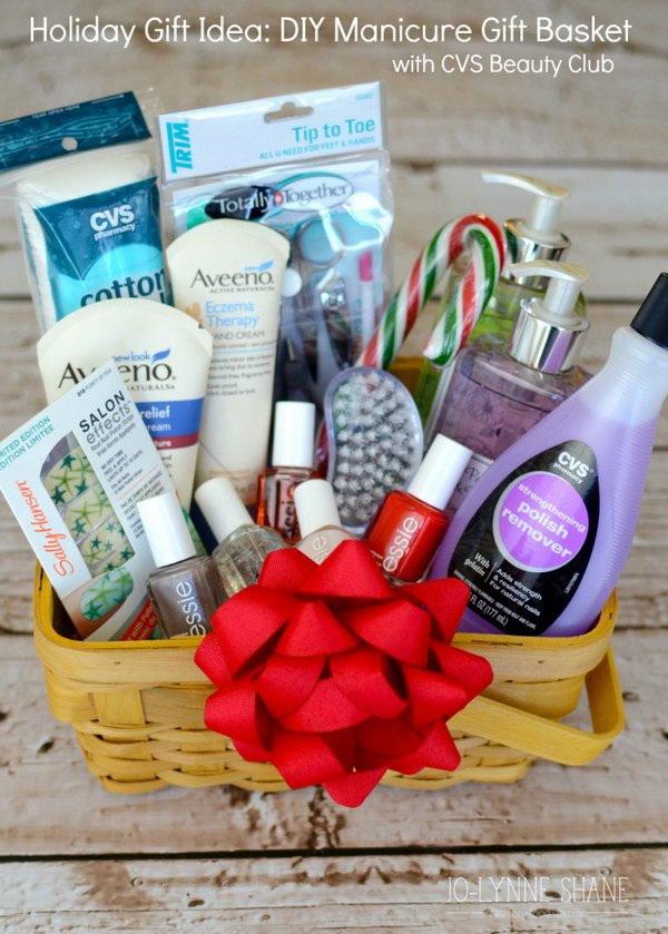 DIY Manicure Gift Basket.