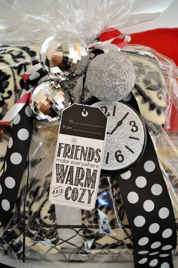 Warm and Cozy Gift Basket.