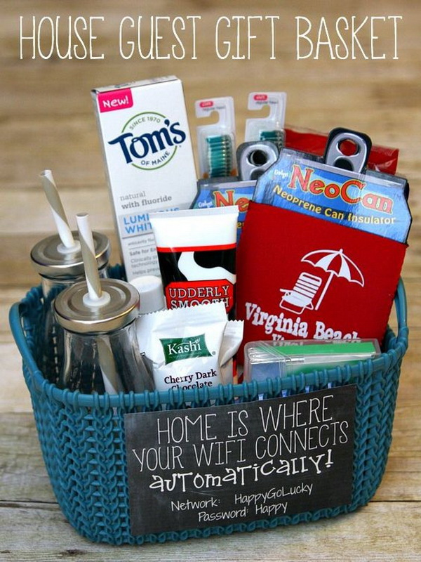 House Guest Gift Basket.