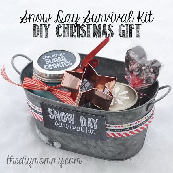 snow day survival kit christmas gift