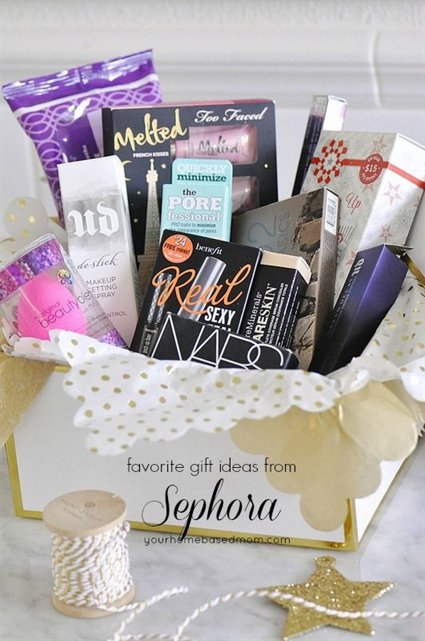Beauty Themed Gift Basket Ideas.