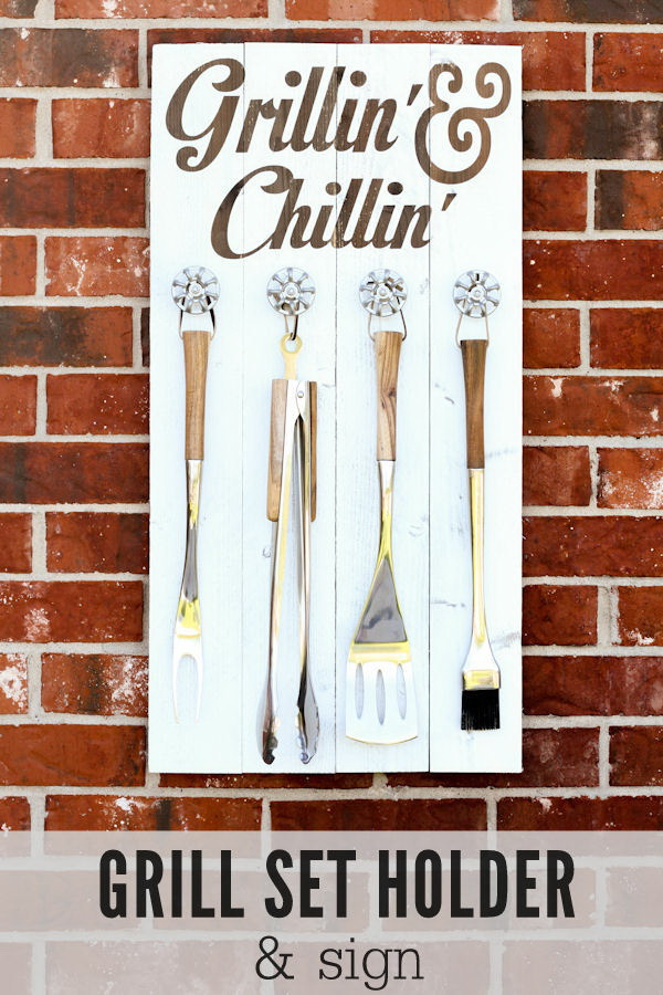 Grill Set Holder. This grill set holder makes perfect gifts for dad who love grilling.